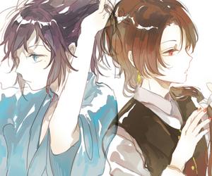 anime, sword, and bishounen image