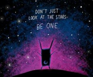 stars, quote, and galaxy image
