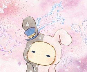 girl, rabbit, and japan image