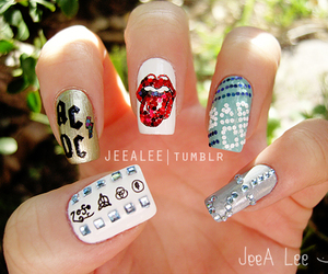 nails and ACDC image