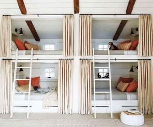 bedroom, bunk beds, and bed image