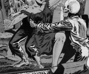 comic, dead, and skull image