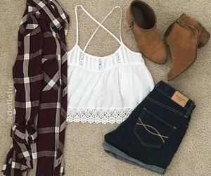 country, outfit, and plaid image