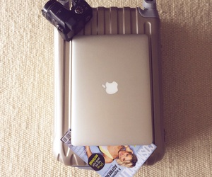 apple, bag, and camera image
