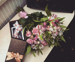 flowers and gift image