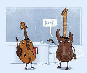 guitarra, violin, and musica image