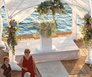 aisle, bride, and ceremony image