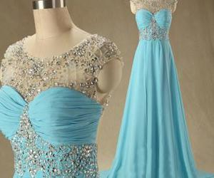 bead, evening dresses, and prom dresses image