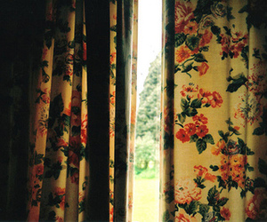 curtains and floral image