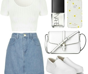 iphone, outfit, and whiteshoes image