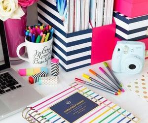 school, study, and desk image