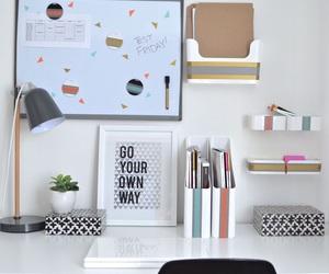 desk, decor, and organization image