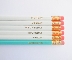 weekend, friday, and monday image