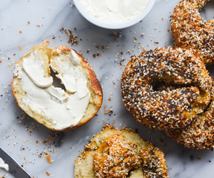 bagel, bread, and breakfast image