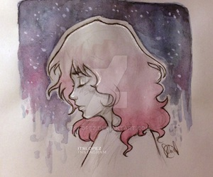 art, artwork, and hair image