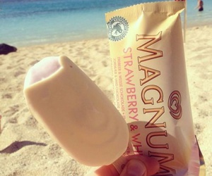 Magnum, beach, and summer image