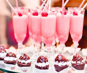 strawberry, food, and pink image