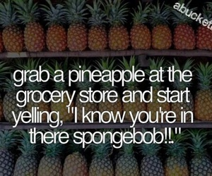 pineapple, funny, and spongebob image