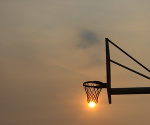 aesthetic, Basketball, and clouds image