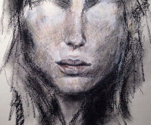 art, artist, and creepy image