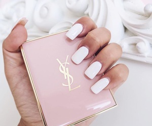 brands, nails, and pink image