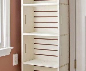 bookshelf, box, and crate image