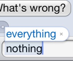 everything, text, and nothing image
