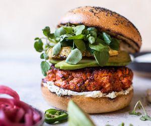 burger, egg, and recipe image