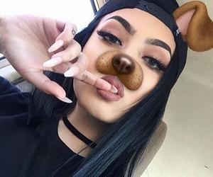 girl, snapchat, and makeup image