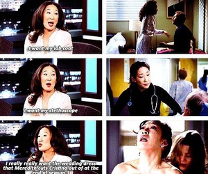 sandra oh, christina yang, and grey's anatomy image