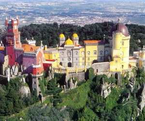 castle, palace, and portugal image