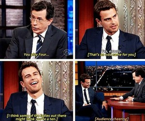 funny, theo james, and book image