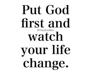 change, god, and life image