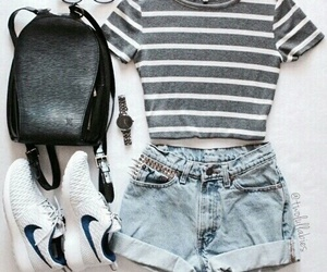 accessories, bag, and shorts image