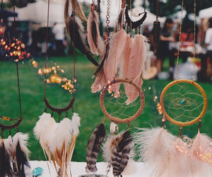 Dream, feather, and dreamcatcher image