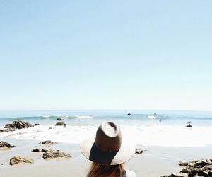 beach, california, and hat image