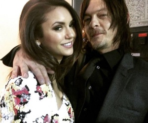 Nina Dobrev, norman reedus, and the walking dead image