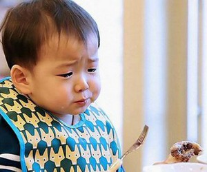 minguk, baby, and cry image