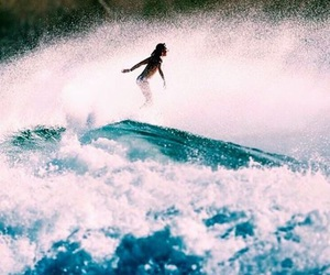 girl, surf, and waves image