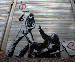 peace, love, and BANKSY image