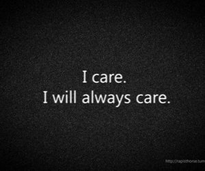 quote, care, and text image