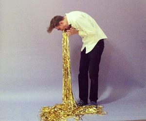 gold, boy, and vomit image