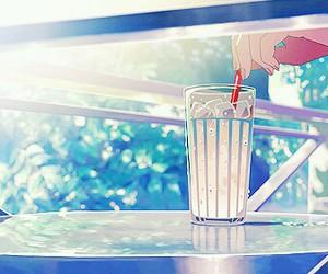 anime, art, and drinks image
