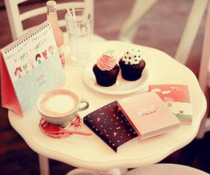cupcake, book, and pink image