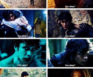 couple, clarke, and the 100 image
