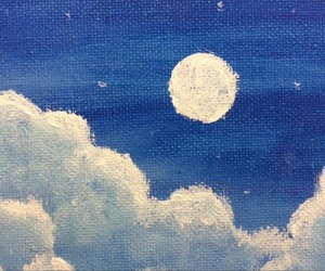 moon, blue, and clouds image