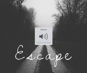 black and white, escape, and iphone wallpaper image