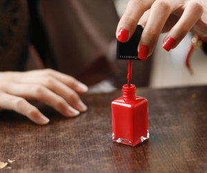 nails, red, and nail polish image