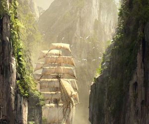 ship, assassin's creed, and art image