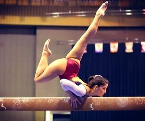 gymnastics and beam image